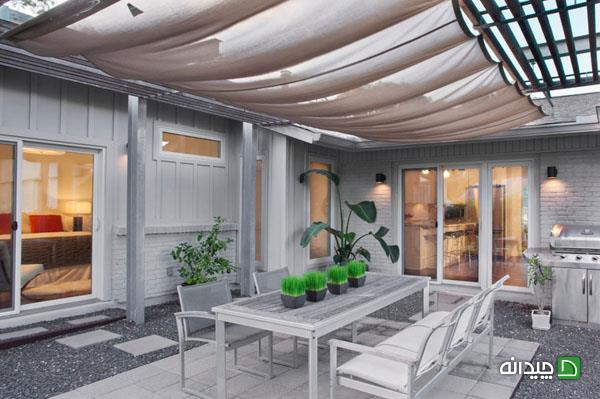 سقف روی حیاط خلوت